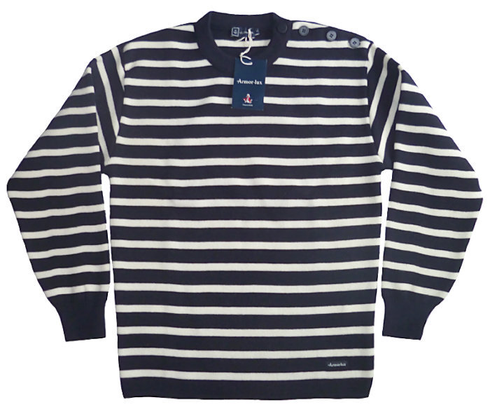 51bc4204741f3e ... Armor Lux Kerlouan pure wool sweater Striped Fouesnant in pure new wool